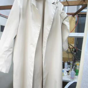 仕立て途中コート 筆記具しみ しみ抜き 化繊素材
