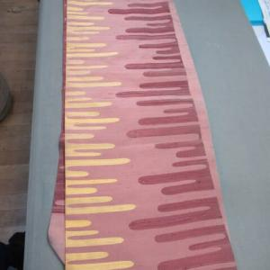 名古屋帯 お太鼓部分に付けた余分な折れ目 仕上げ直し 正絹素材