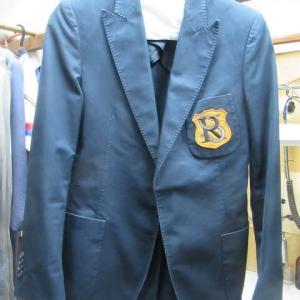 ジャケット(ラフシモンズ製)クリーニング済み 折れ目脱色 水洗い・色掛け 綿素材