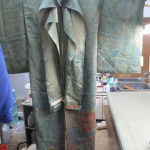 更紗訪問着新反仮縫い 湯通し 正絹素材