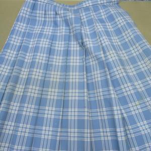 スカート(学生服)汗による黄変しみ・ポスターカラーしみ しみ抜き・全体漂白 ウール・ポリエステル素材