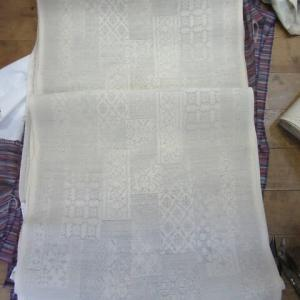 夏大島新反(湯通し済み) 仕立て 正絹素材