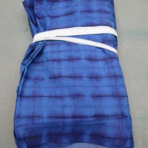 藍染着尺表・八掛(解き済み) 洗い張り 正絹素材