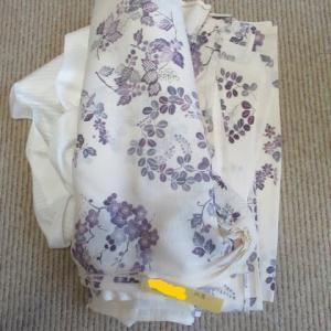 仕立て屋さんのしわ寄せ 絽小紋(解き済み)洗い張り 正絹素材