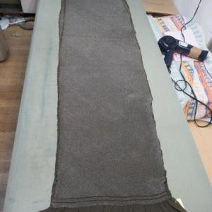 総絞り兵児帯 手のし(幅出し) 正絹素材