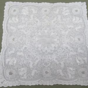 汕頭(スワトウ)刺繍ハンカチ 黄変しみ クリーニング・しみ抜き 綿素材