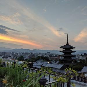 京都の街並みを見ながら、夢を語り合う