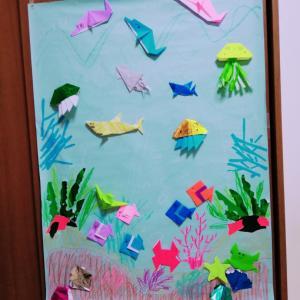 折り紙とネギ