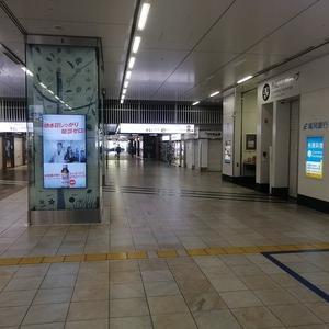 こんなに人がいない博多駅は初めて見た