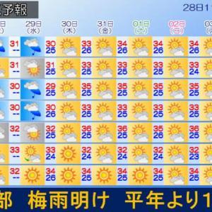 そろそろ九州北部も梅雨明けか?