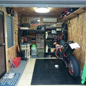 ガレージのレイアウト変更が完了!、これでDIYから開放される・・・