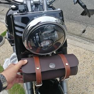 ハーレーのツールバッグ、どうにか取付け完了・・・か?