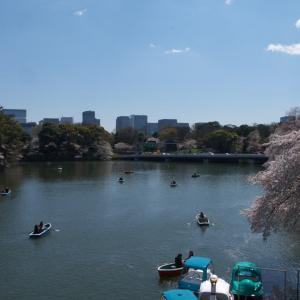 4月の千鳥ヶ淵:千鳥ヶ淵遊歩道を歩いて九段坂上・靖国神社前へ PART3