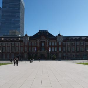 1月の東京駅:丸の内中央広場と丸の内中央口交差点の周辺 PART1