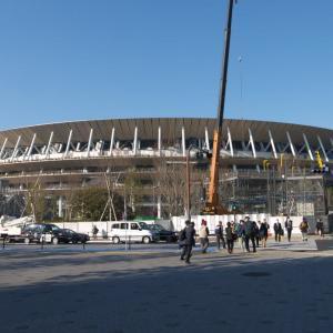2月の神宮外苑:新国立競技場南側から外苑西通り・仙寿院交差点へ PART2