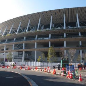 2月の神宮外苑:新国立競技場南側から外苑西通り・仙寿院交差点へ PART1
