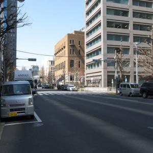 3月の神田一ツ橋:神田警察通り・錦町トラッドスクエア前から一ツ橋交差点へ PART2