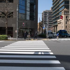 3月の神田一ツ橋:神田警察通り・錦町トラッドスクエア前から一ツ橋交差点へ PART1