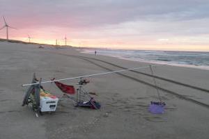 大東の浜(台風19号の影響か?)