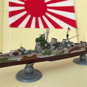 フジミ模型 重巡洋艦 妙高 セレター迷彩 完成
