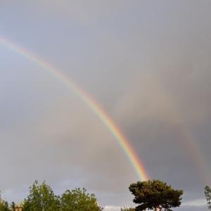虹とスコーン