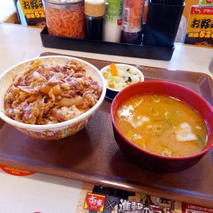 牛丼大盛とん汁おしんこセット