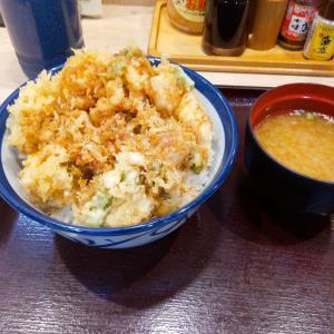 台風の爪痕と『天丼てんや』のかき揚げ丼