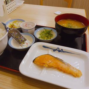 『焼鮭定食』納豆とん汁バージョン