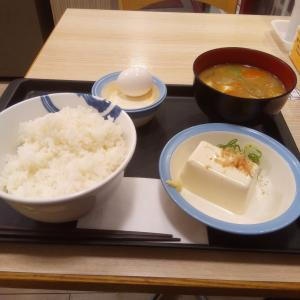 紅生姜丼と月見豚汁