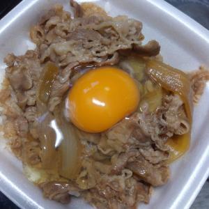"""""""高級たまご""""と牛丼"""