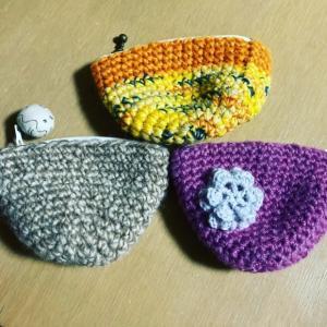 手編みのかわいいポーチ