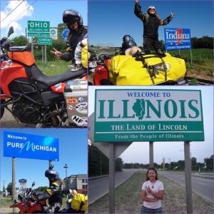 New York州を後に、Illinois州はChicagoまでビューっと