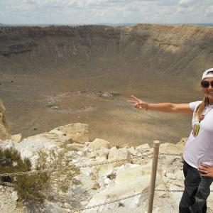 "Get your kicks on ""Route 66"" Meteor Crater"