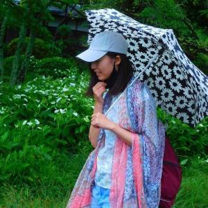 """ますえ母の散歩コース 急遽 リクエストは """"豆乳ゲット""""に変更 半夏生と娘の画像"""