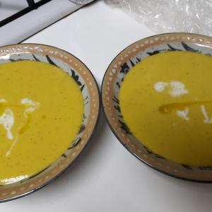 カボチャスープ 簡単過ぎて、、 恥ずかしいけど、、、