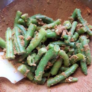 いんげんの胡麻和え 切り干し大根の煮物 けど、、、冷奴が一番美味しかったかも。。。(笑)