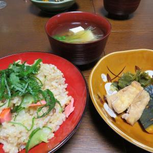 鮭ときゅうりのお寿司 (^^♪ますえ女将の課題