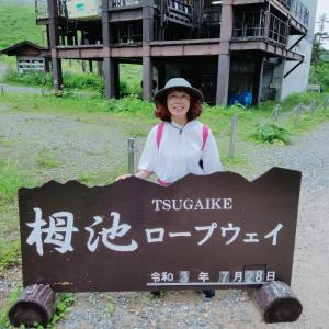 """""""栂池自然園"""" 大好きなお花畑に囲まれて 台風の影響は、どうかなぁ〜?"""