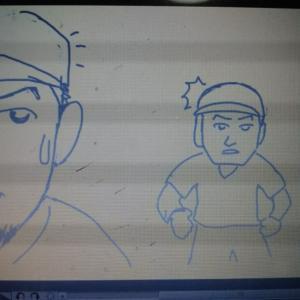 謎のアニメ制作途中経過③  謎のヒゲ男登場(笑)!