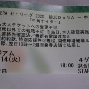 2020.4.14ドラゴンズ戦チケット入手!