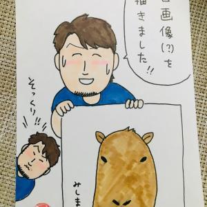 三嶋一輝&戸柱恭孝☆三嶋、自画像を描く