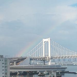 レインボーブリッジに虹