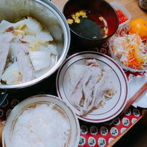 豚肉と白菜の酒蒸し