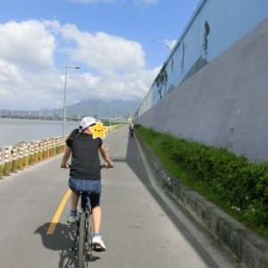 【小6子連れ台湾旅行 レンタサイクルで淡水を走る④】