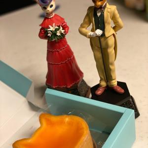 結婚記念日と海老のトマトスパゲティ。