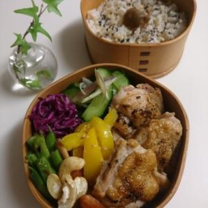 2020/7/29鶏肉の黒七味焼き弁当