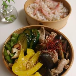 2020/7/31豚肉となすの甘酢炒め弁当