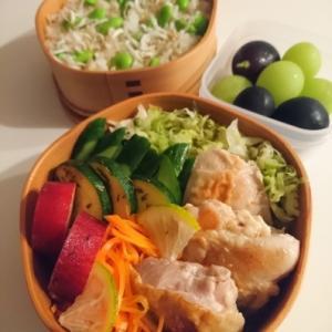 2020/9/15鶏の塩レモン焼き弁当 * 昨夜のデザート