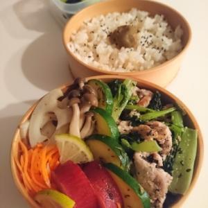 2020/9/18豚肉と小松菜のごま炒め弁当