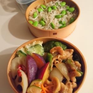 2020/9/25豚肉とピーマンとカシューナッツの甘酢炒めもの弁当
